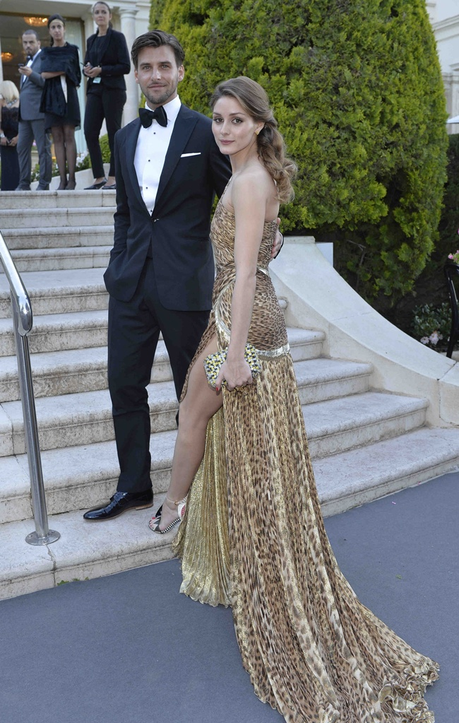3 Olivia Palermo and Johannes Huebl@amfAR Gala 2013 in Cannes 2013-05-23