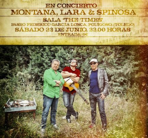 Miguel Montana, Spinosa y Chema Lara en concierto