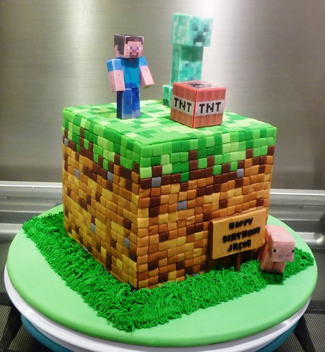 Minecraft Block Cake Images : Minecraft Block Cake - a photo on Flickriver
