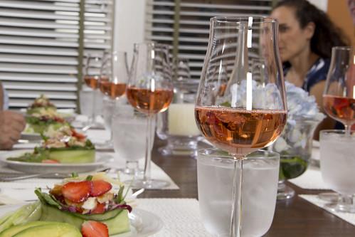 Rose Wine in iittala Glasses