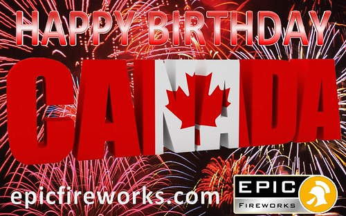 Happy Birthday Canada by Epic Fireworks