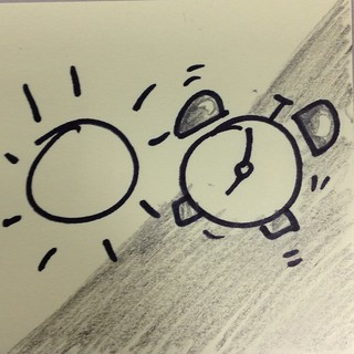 Sun and alarm clock