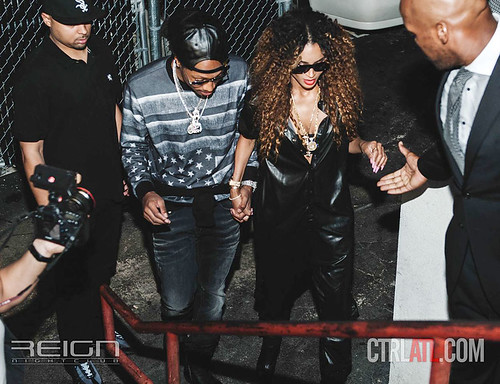 Ciara and Future partying at at REIGN