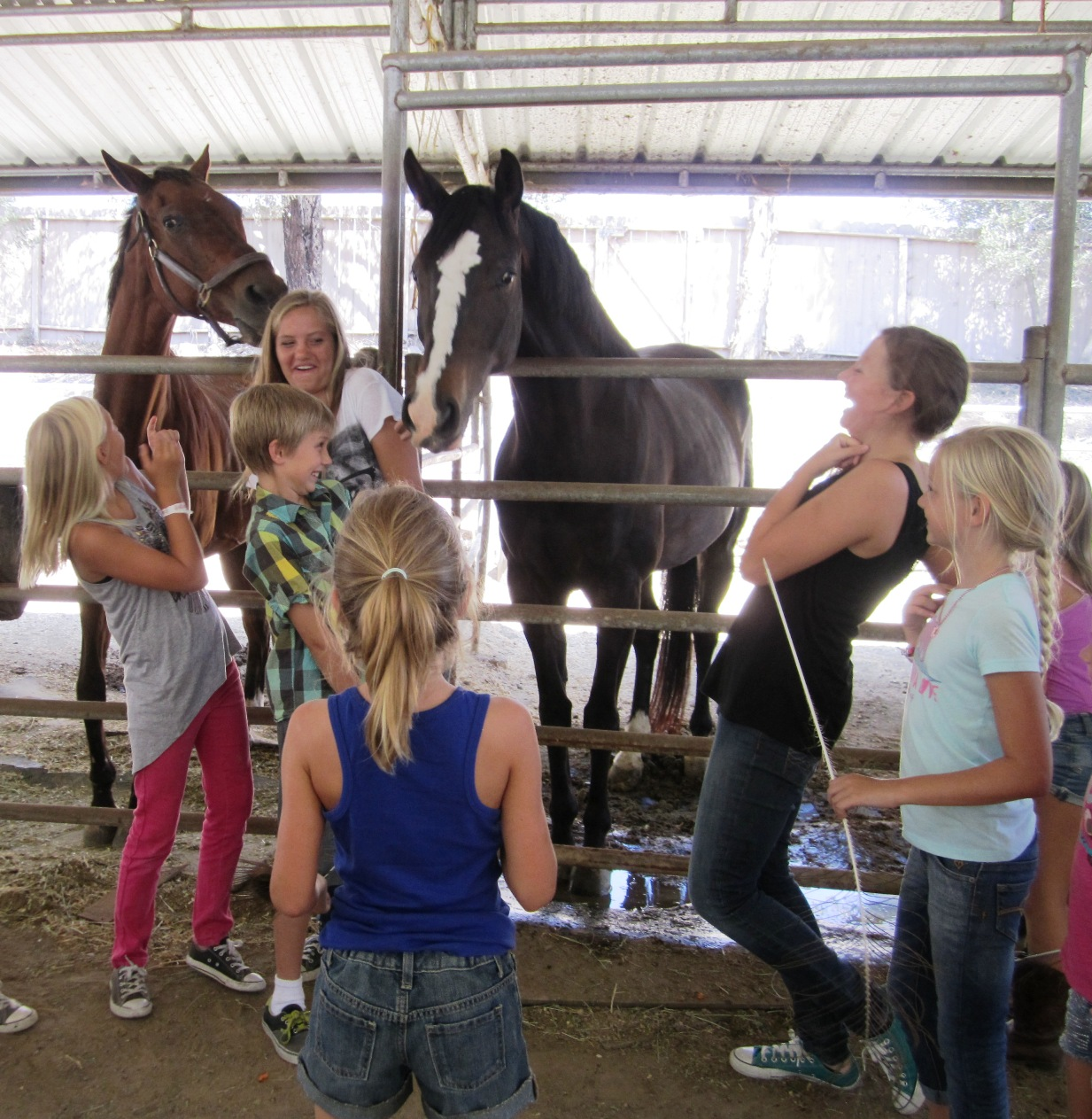 Childrens Birthday Party Fun At The Horse Stables San Diego County