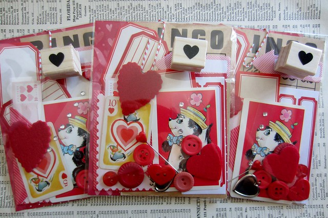 in my etsy shop: red, heart kit