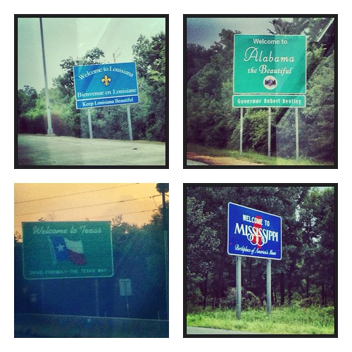 Road trippin' across the deep south