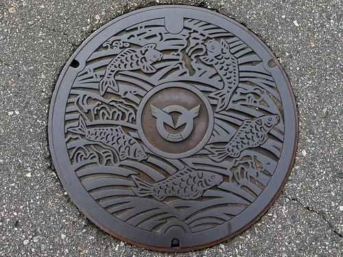 Inami Toyama , manhole cover (富山県井波町のマンホール)