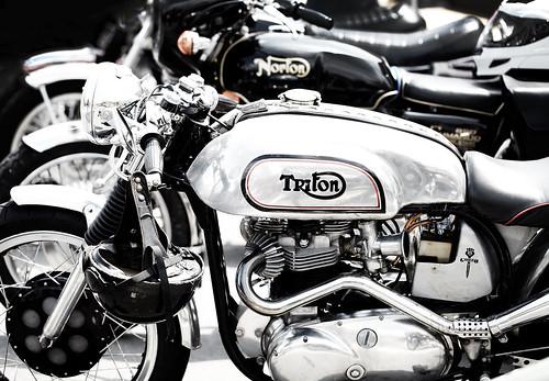 Vintage British motorcycles