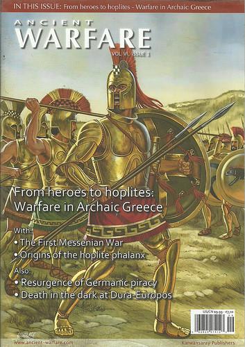 """Δημοσίευση Μελέτης στο Περιοδικό """"ANCIENT WARFARE MAGAZINE """" , Απρίλιος 2012"""