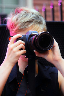 Cute Blonde Photographer at Jazz Poetry Concert 2013,Pittsburgh,Pa.
