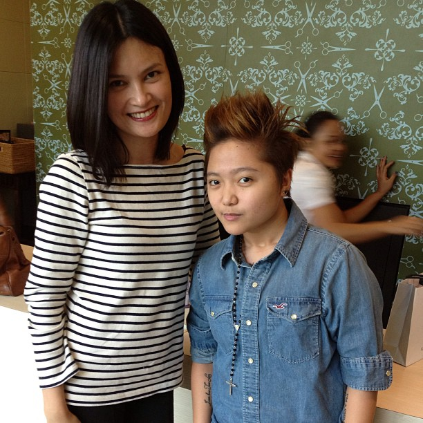 Just met #Charice Pempengco at Studio Fix. We both had a salon day with Alex Carbonel.