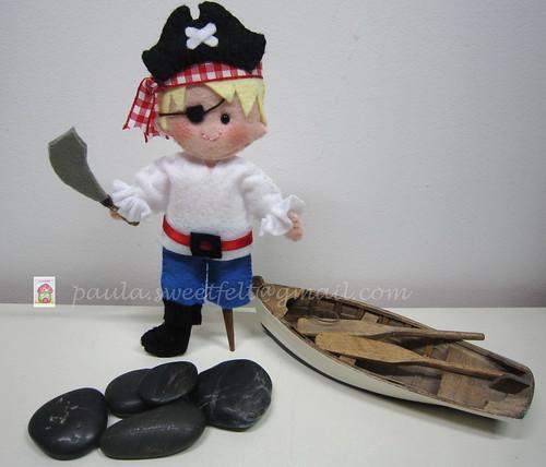 ♥♥♥ Piratinha... by sweetfelt \ ideias em feltro