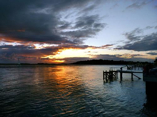 Sunset harbour. Explore.