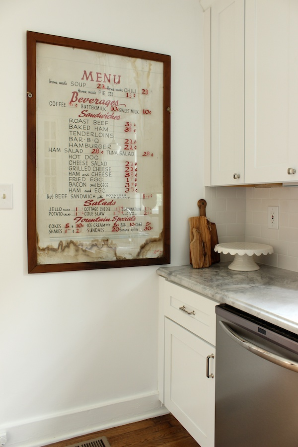Kitchen Menu 1