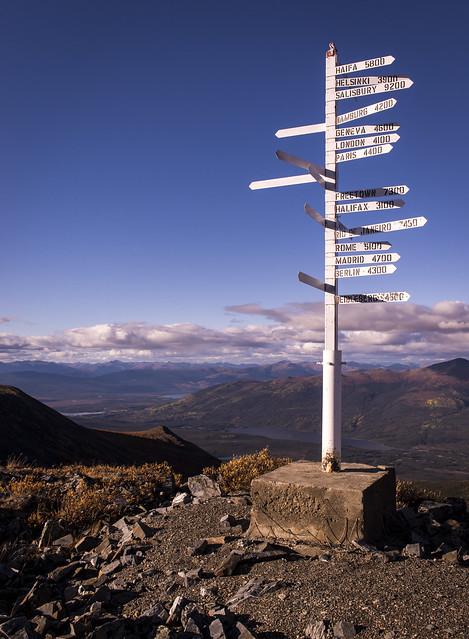 Keno signpost, Yukon 2013