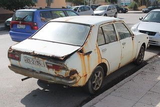 "1977-79 Toyota Corolla in an appaling ""roadworthy"" condition"