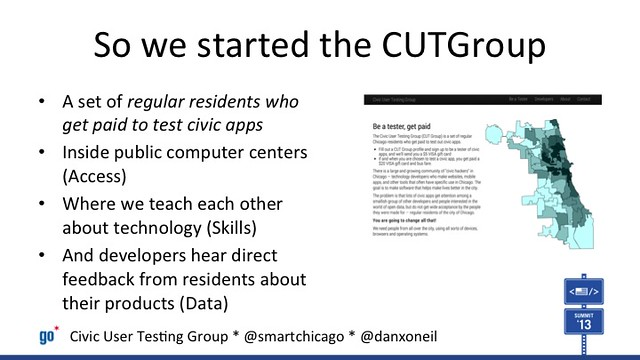 Civic User Testing Group as a Model in Changing the Relationship Between Government and Residents (#cfasummit)