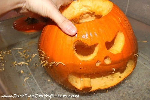 Saving carved pumpkin
