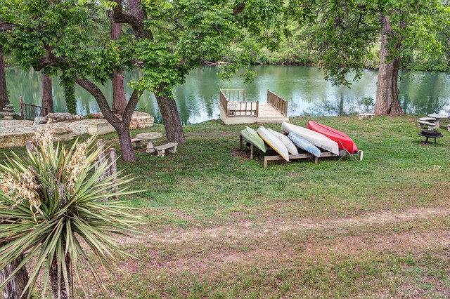 Boats and Dock on the Guadalupe