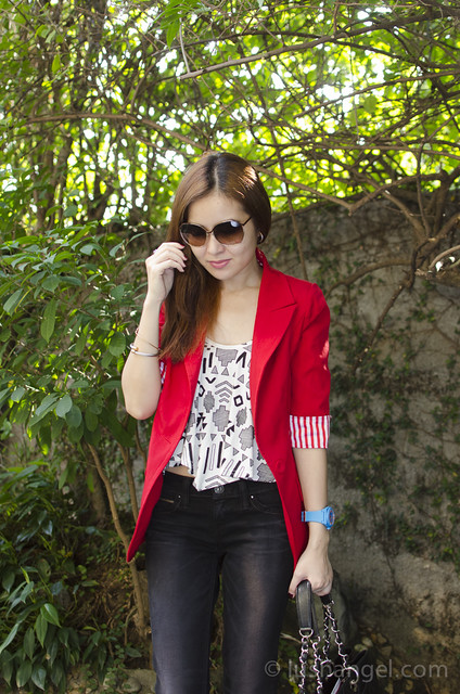 red-long-blazer