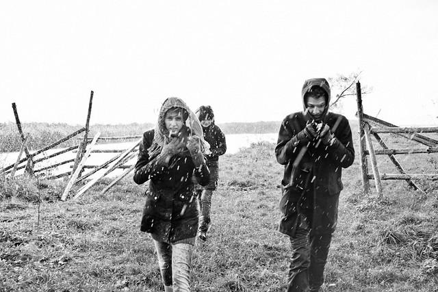 ч/б фотосессия любовь дождь  Осенняя фотосессия Оли и Антона. Часть третья. Дождь