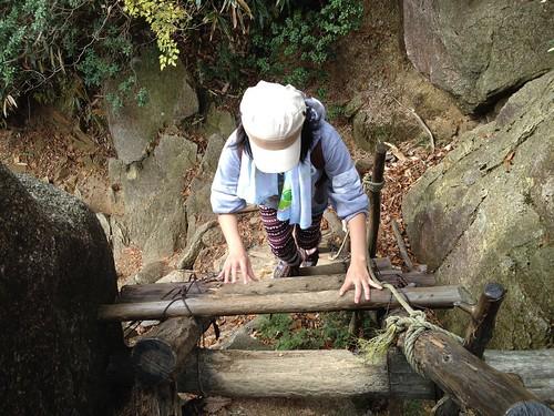 御在所岳 7合目のはしご