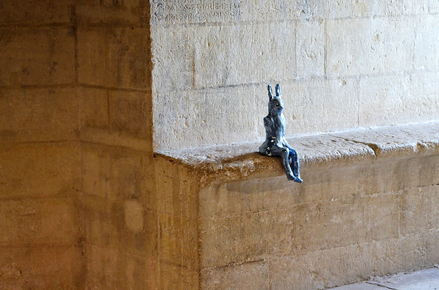Rabbit in a cell,Tarascon Castle, Provence, France