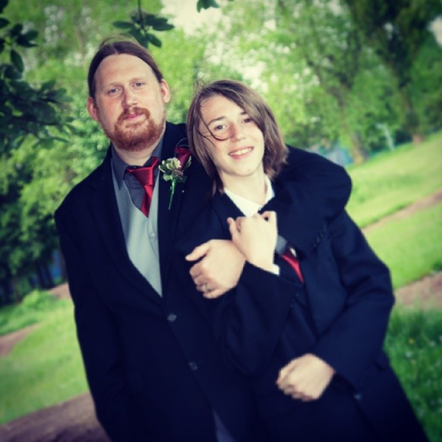 Me and @therealblondekid on my #weddingday #proudstepdad