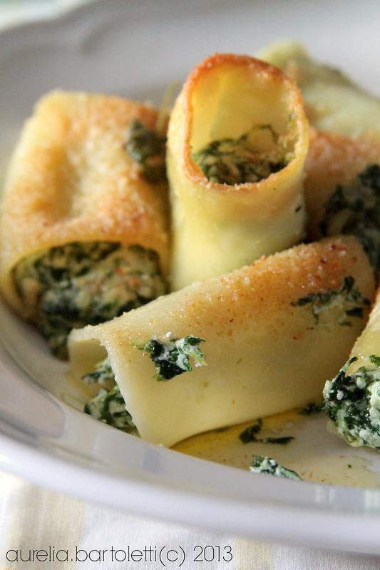 paccheri gratinati ricotta e spinaci