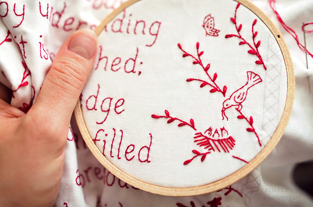 Redwork Embroidery by Clementine Pattern Co.