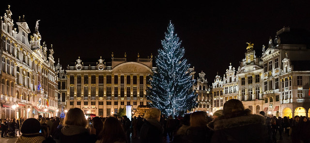 Grand'Place with (real !) Christmas Tree 2013