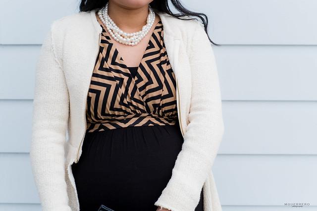 Black Mocha Chevron Maternity maxi, zara peplum blazer