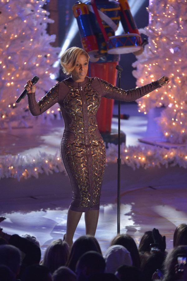 Mary-J-Blige-Herve-Leger-Purple-Brea-Geometric-Beaded-Dress