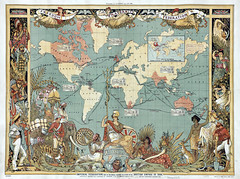 British Empire Map in 1886