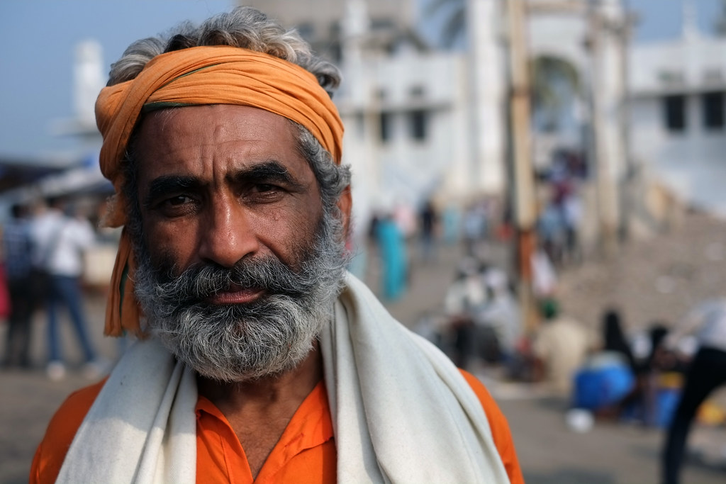Indian man at Haji Ali Dargah