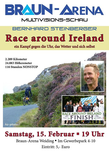 Plakat Vortrag Race Around Ireland