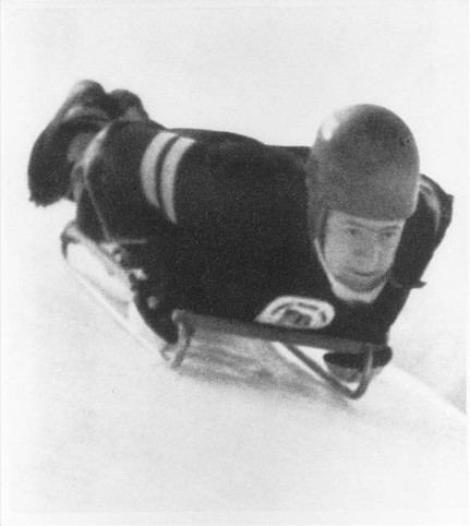 Skeleton racer John R. Heaton