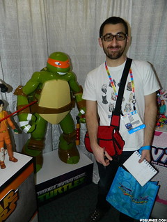 "Nickelodeon  TEENAGE MUTANT NINJA TURTLES :: 2014 Toy Fair;Tokka's fave hi-lights - 48""   MY SIZE 'MICHELANGELO' FIGURE vii  (( 2014 )) [[  Courtesy of figures.com ]]"