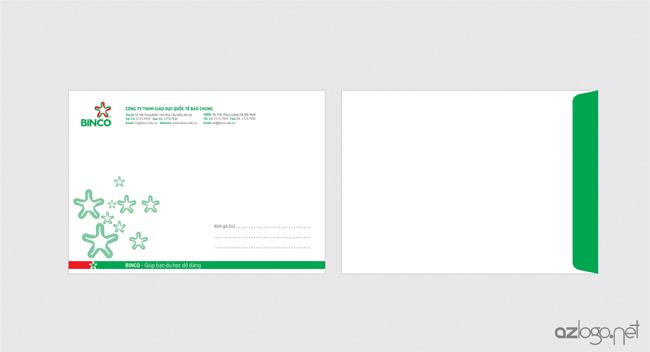 Thiết kế phong bì A4 công ty tư vấn du học BINCO
