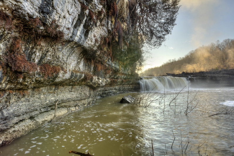 Great Falls 2, Caney Fork River, Rock Island State Park, White and Warren County, Tennessee