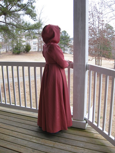 1800's Pelisse - Back with Hood up