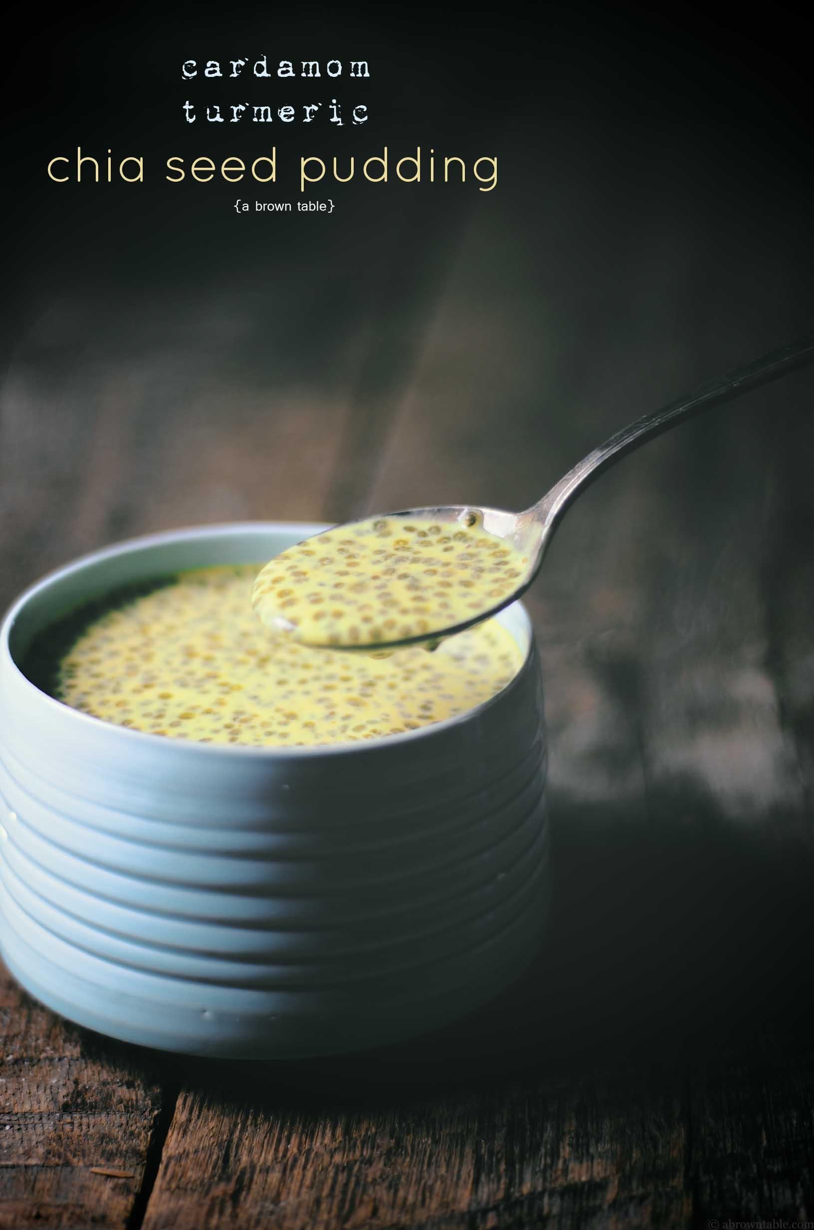 vegan cardamom turmeric chia seed pudding