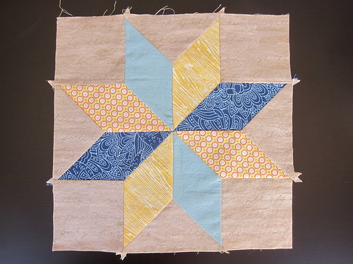 Hand pieced Star Sampler - Lemoyne Block