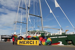 Escale du Rainbow Warrior III à Cherbourg (50) - avril 2014