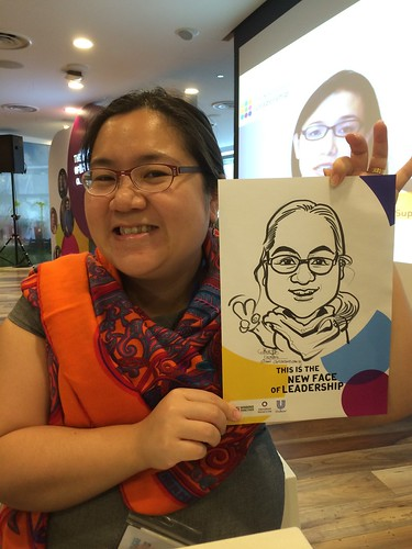 caricature live sketching for International Women's Day for Unilever