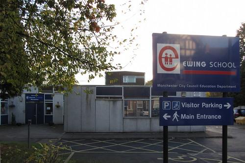 Ewing School sign