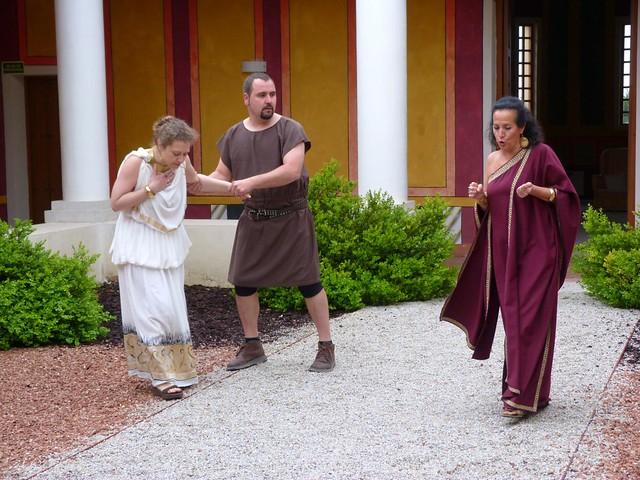 Visitas teatralizadas en el Museo de las Villas romanas de Valladolid