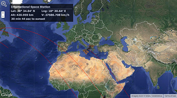 ISS Tracker Google Map