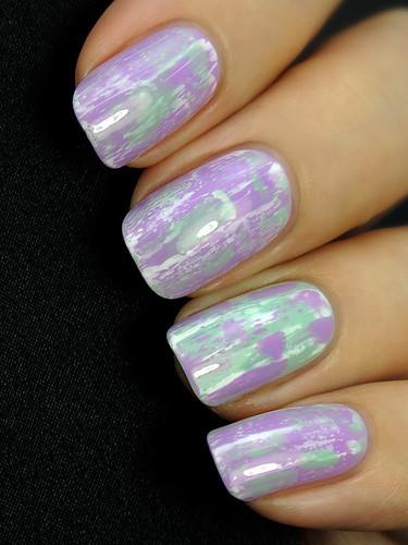 Distressed Nails (Kiko 330 & Kiko 345)