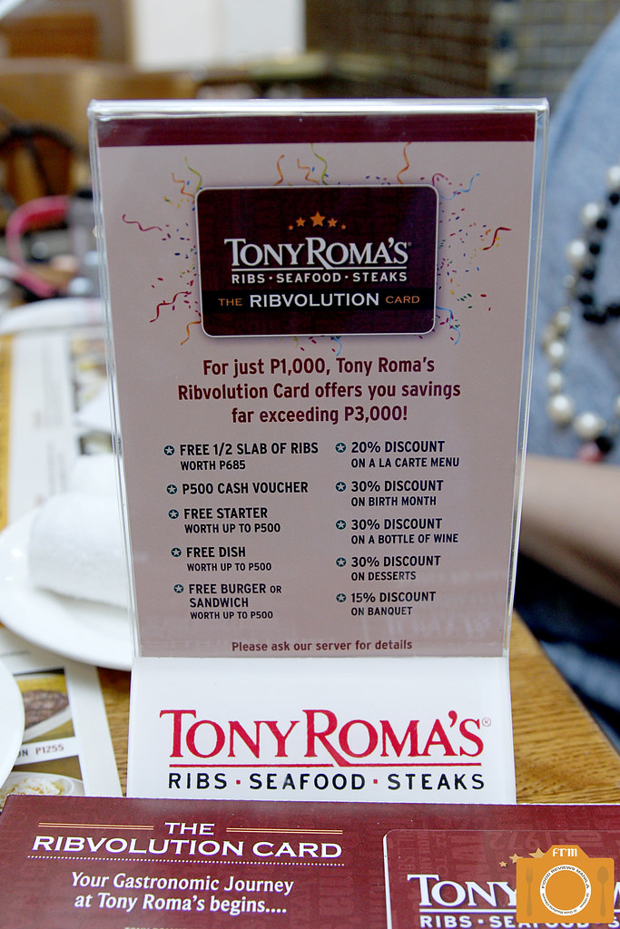 Tony Roma's Ribvolution Card